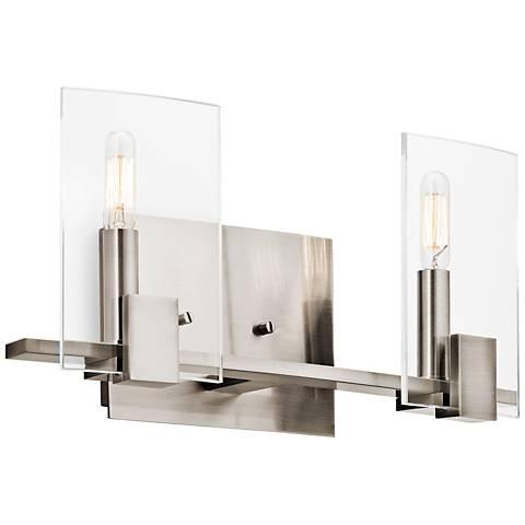 "Kichler Signata 16""W 2-Light Classic Pewter Bath Light"