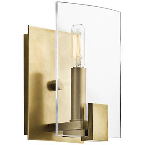 "Kichler Signata 8"" High 1-Light Natural Brass Wall Sconce"