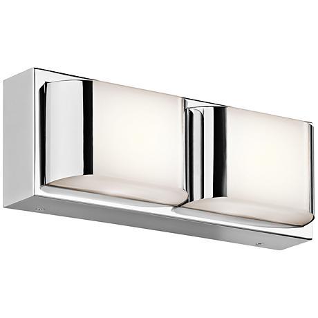 "Kichler Nita 2-Light 13"" Wide LED Chrome Bath Light"