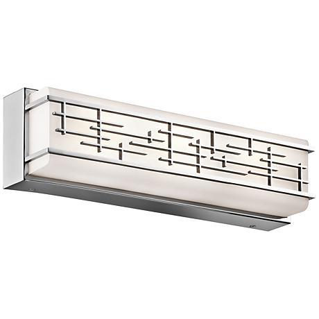 "Kichler Zolon 18"" Wide LED Chrome Linear Bath Light"