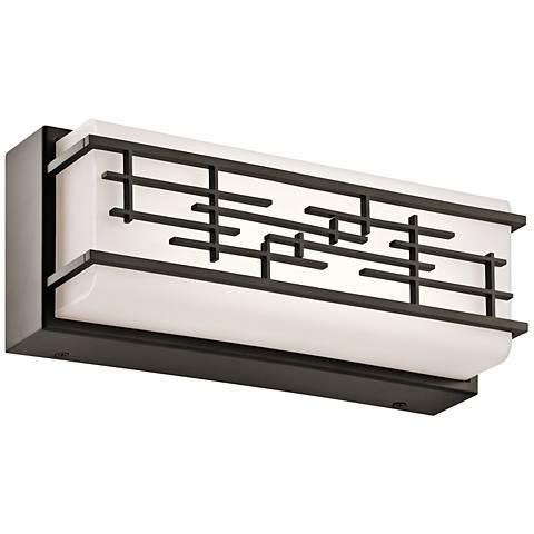 """Kichler Zolon 12 1/4""""W LED Olde Bronze Linear Bath Light"""