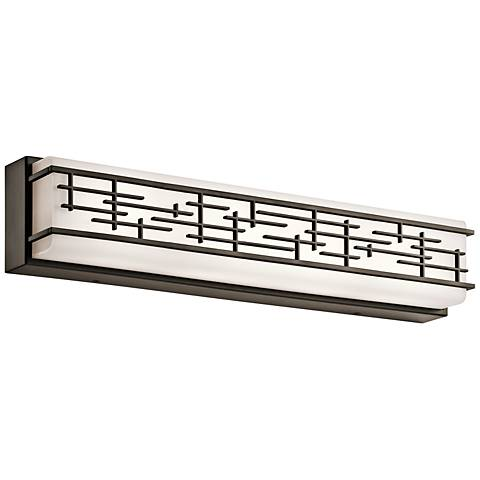 "Kichler Zolon 24"" Wide LED Olde Bronze Linear Bath Light"