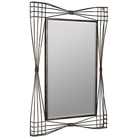 """Jessa Aged Gold 25 1/2""""x35 1/2"""" Decorative Wall Mirror"""