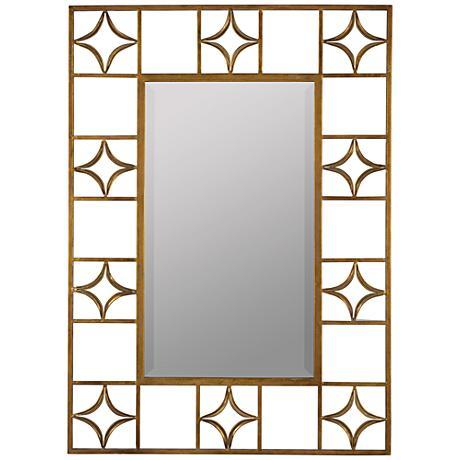 "Hansel Aged Gold 31""x43"" Decorative Wall Mirror"