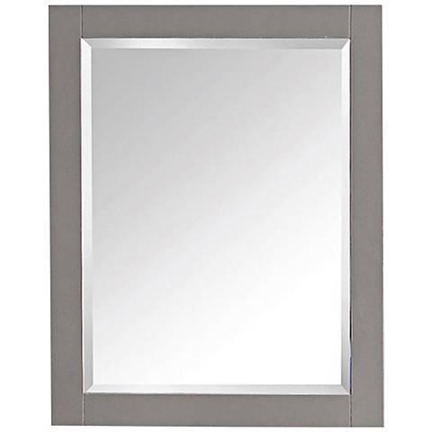 "Avanity Chilled Gray 24""x30"" Decorative Vanity Mirror"