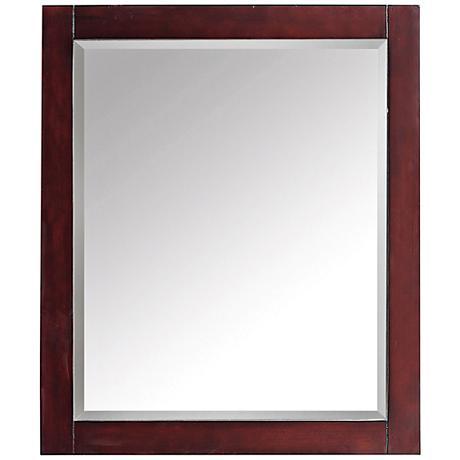 """Avanity Espresso Brown 28""""x32"""" Decorative Vanity Mirror"""