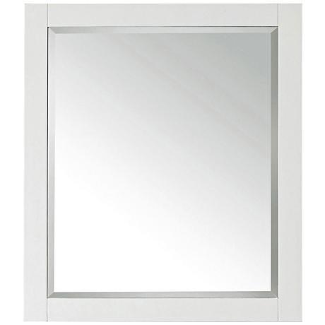 """Avanity White 28""""x32"""" Decorative Vanity Mirror"""