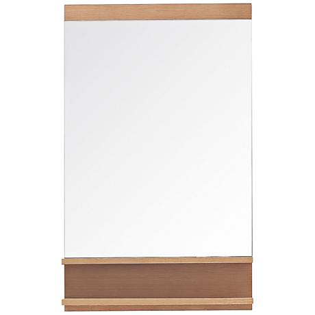 "Avanity Elle Pear Wood 21 3/4""x35 1/2"" Vanity Mirror"