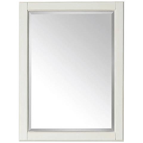"""Avanity Hamilton French White 24""""x32"""" Vanity Mirror"""