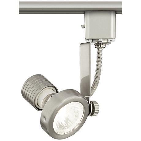 halogen track head in brushed steel for lightolier systems 8v971 lamps plus. Black Bedroom Furniture Sets. Home Design Ideas
