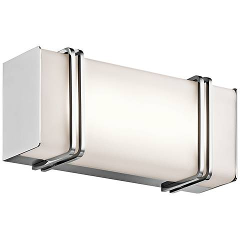 "Kichler Impello 12 1/4"" Wide LED Linear Chrome Bath Light"