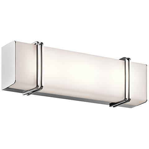 "Kichler Impello 18 1/4"" Wide LED Linear Chrome Bath Light"