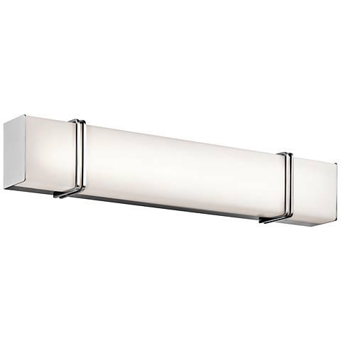 "Kichler Impello 30 1/4"" Wide LED Linear Chrome Bath Light"