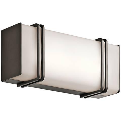 "Kichler Impello 12 1/4"" Wide LED Linear Bronze Bath Light"