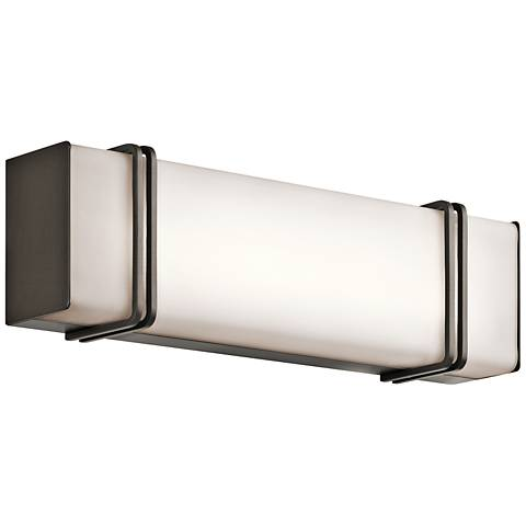 "Kichler Impello 18 1/4"" Wide LED Linear Bronze Bath Light"