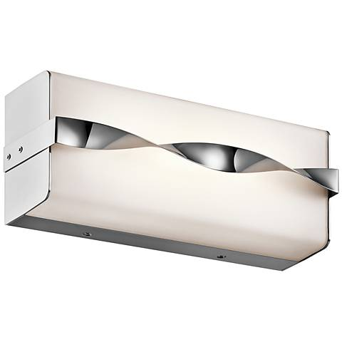 "Kichler Tori 12 1/4"" Wide LED Linear Chrome Bath Light"