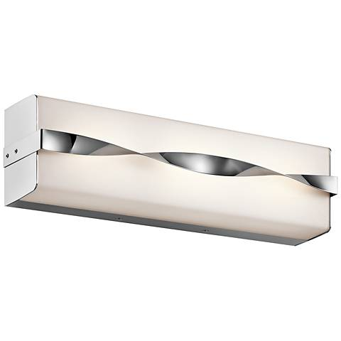 "Kichler Tori 18 1/4"" Wide LED Linear Chrome Bath Light"