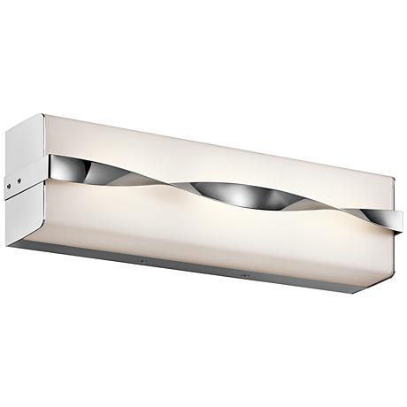 "Kichler Tori 18 1/4"" Wide LED Linear Chrome Bath Light"