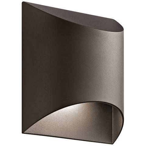 "Kichler Wesley 7 1/2"" High LED Bronze Outdoor Wall Light"