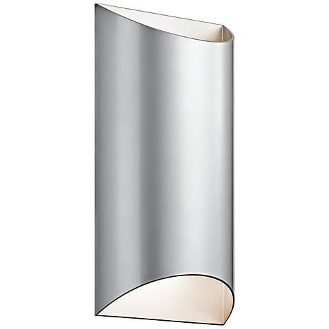 "Kichler Wesley 14"" High LED Platinum Outdoor Wall Light"