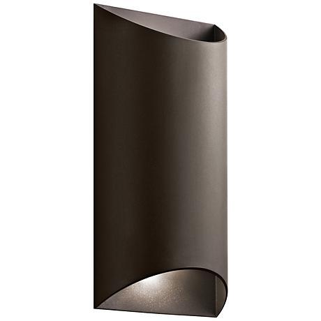 "Kichler Wesley 14"" High LED Bronze Outdoor Wall Light"