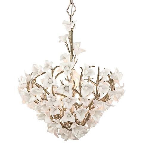 "Corbett Lily 26 1/4"" Wide Silver Leaf Pendant Light"