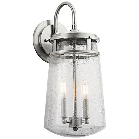 "Kichler Lyndon 18 1/4"" High Aluminum Outdoor Wall Light"