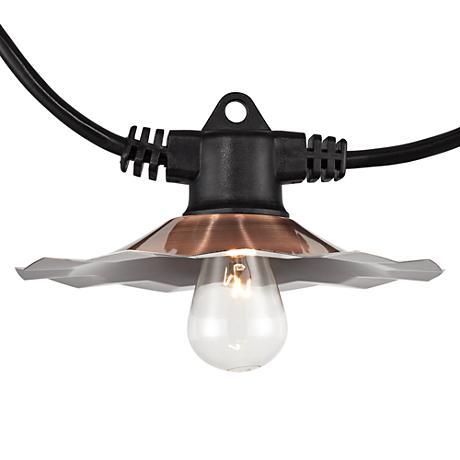 European Cafe 35 Copper Shade 7-Socket Light String - #8W059 Lamps Plus