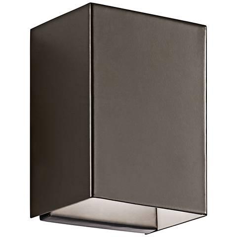 "Kichler Walden 7 1/4"" High Bronze Outdoor LED Wall Light"