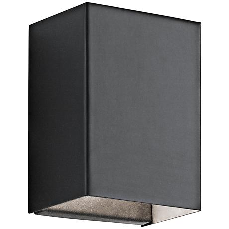 "Kichler Walden 7 1/4"" High Black Outdoor LED Wall Light"