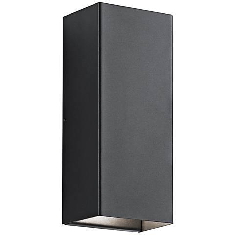 "Kichler Walden 12"" High Black Outdoor LED Wall Light"