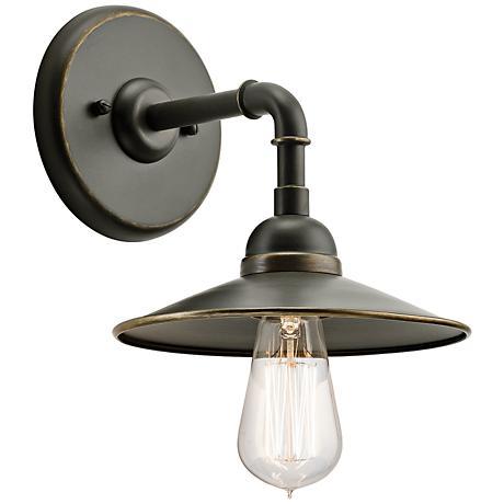 "Kichler Westington 8 1/4""H Olde Bronze Outdoor Wall Light"