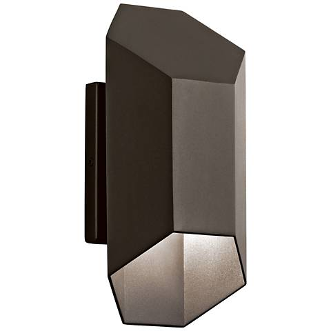 "Kichler Estella 12"" High Bronze LED Outdoor Wall Light"