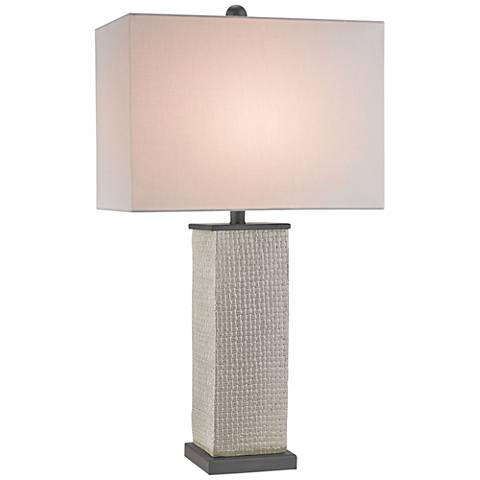 Currey and Company Reed Gray Terracotta Table Lamp