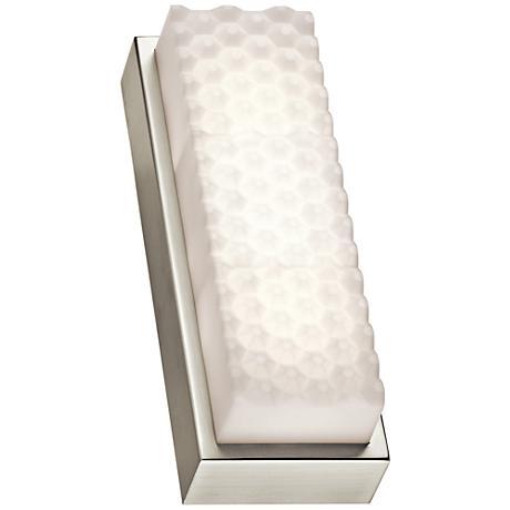"""Elan Merco 13"""" High Brushed Nickel LED Wall Sconce"""