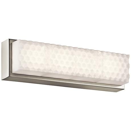 """Elan Merco 17"""" Wide Brushed Nickel LED Bath Light"""