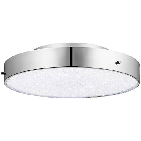 "Elan Crystal Moon 15 3/4"" Wide Chrome LED Ceiling Light"