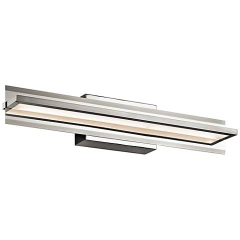 "Elan Rissel 25 1/4"" Wide Satin Nickel LED Bath Light"