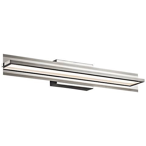 "Elan Rissel 30"" Wide Satin Nickel LED Bath Light"