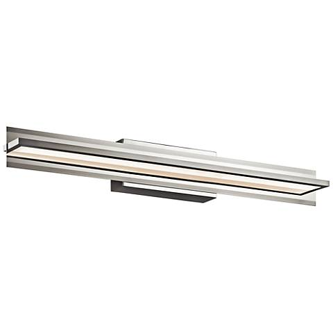 "Elan Rissel 36"" Wide Satin Nickel LED Bath Light"