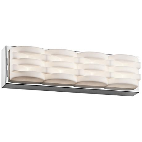 "Elan Minse 17"" Wide Chrome LED Bath Light"