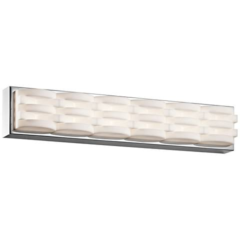 "Elan Minse 25"" Wide Chrome LED Bath Light"