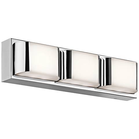 "Kichler Nita 3-Light 19"" Wide LED Chrome Bath Light"