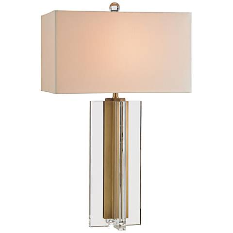 Currey and Company Skye Clear Crystal and Brass Table Lamp