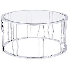 Perion Chrome Plated Round Coffee Table
