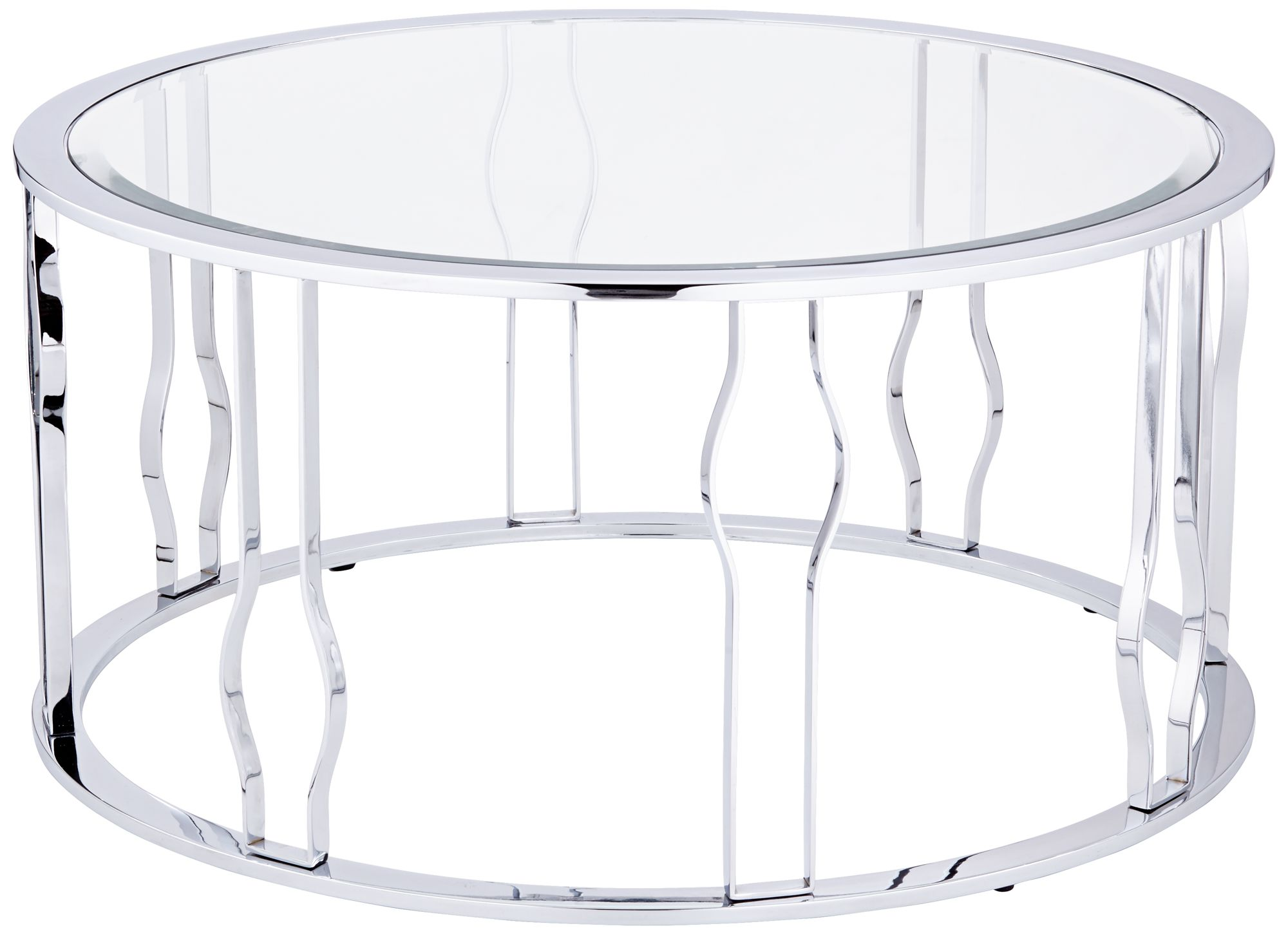 Round Glass And Chrome Coffee Tables Simple Coffee Tablea Glass Table Is Modern Chrome Coffee