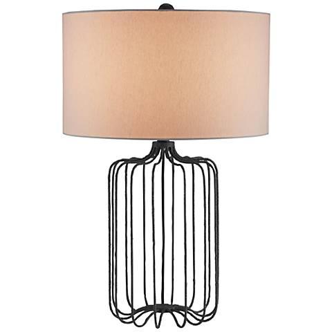 Currey and Company Furlong Mole Black Metal Table Lamp