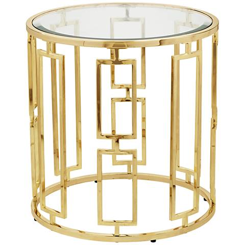 Belesi Gold Round End Table