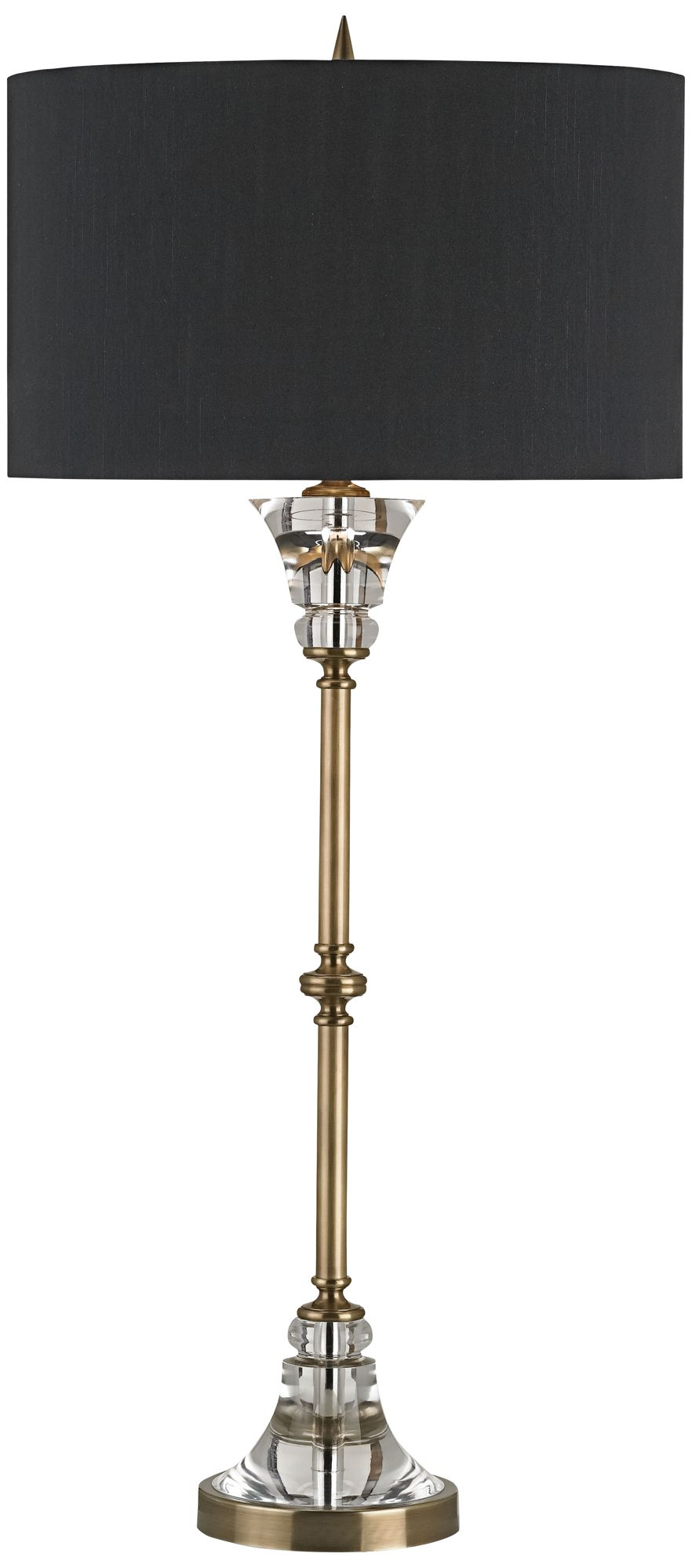 Currey And Company Encore Coffee Brass Table Lamp
