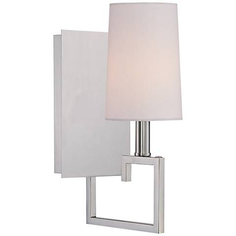 "Crystorama Westwood 13"" High 1-Light Nickel Wall Sconce"